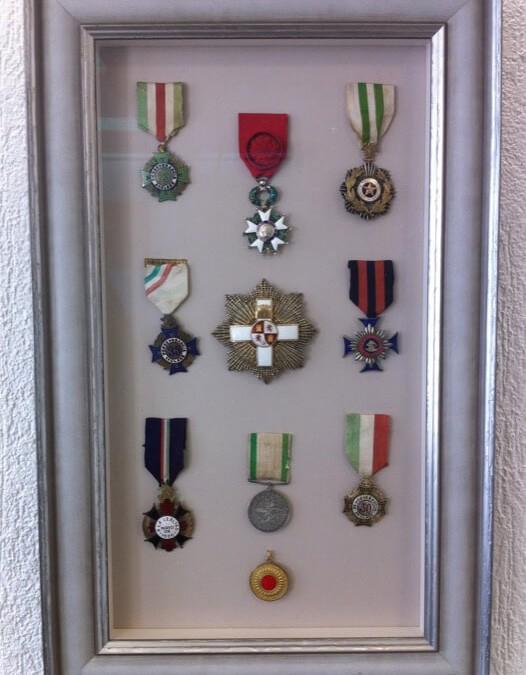 Encadrement Médailles