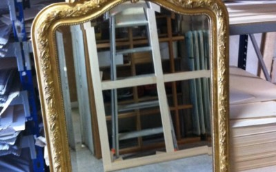 Restauration cadre miroir - Après